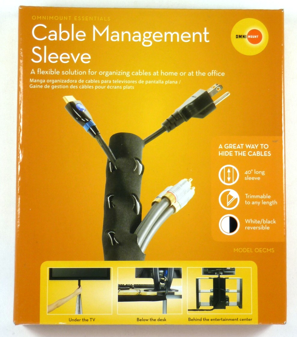 OmniMount OECMS Neoprene Cable Management Black//White