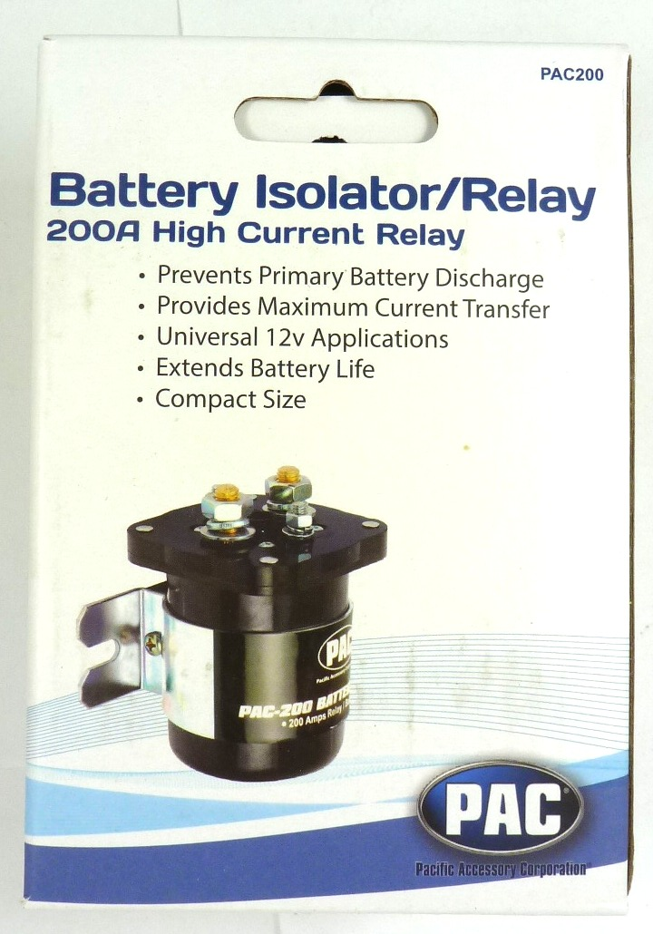 PAC PAC200 High Current Relay Dual Battery Isolator 200 AMP